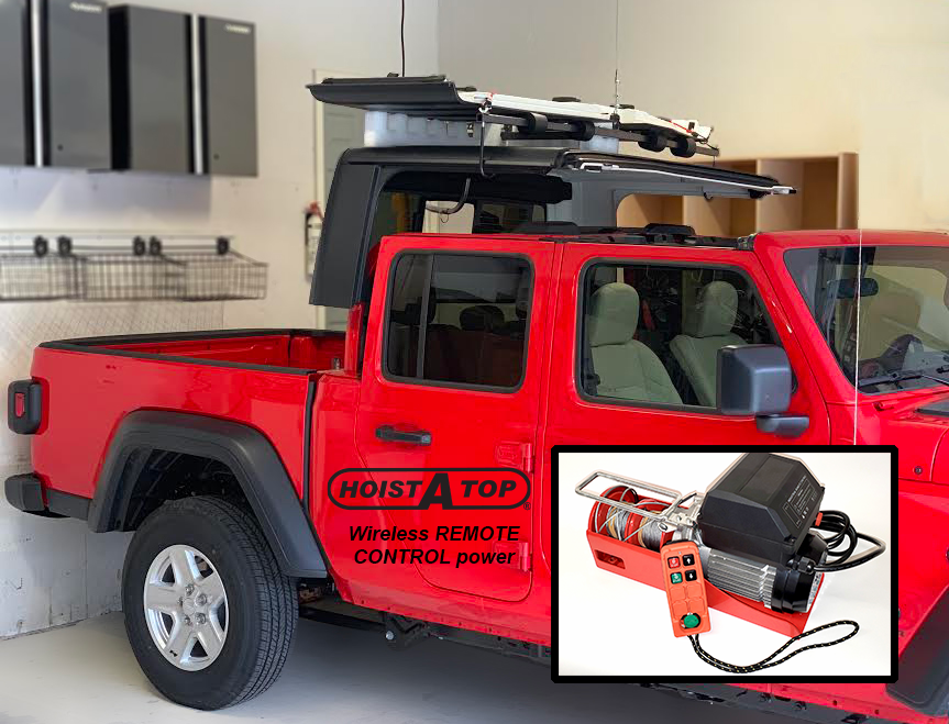 Wireless Remote Controlled Power Hoist-A-Top for JT Gladiator