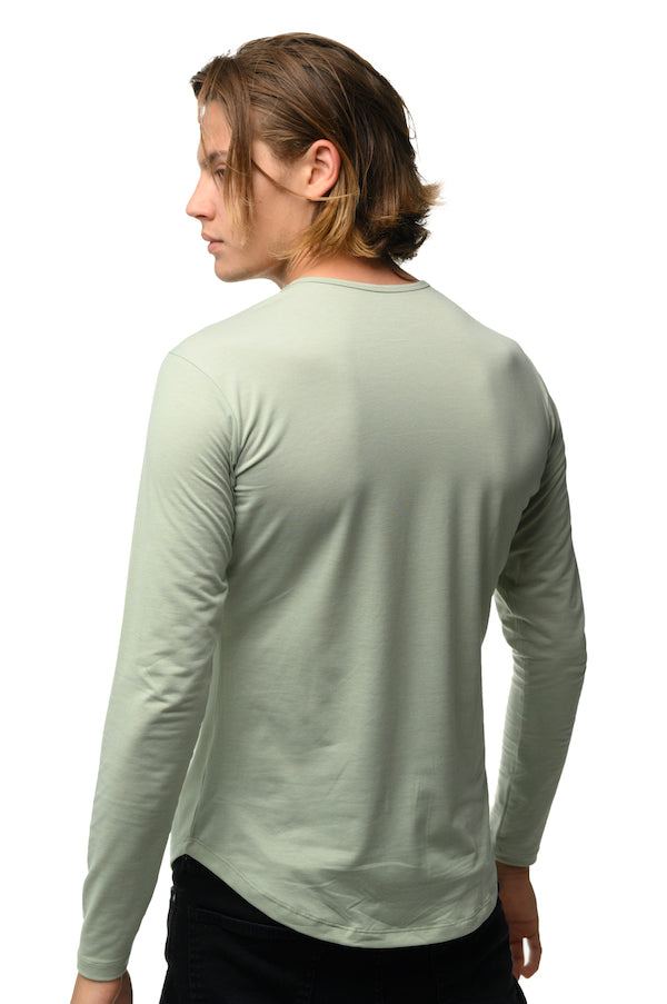 The ESNTLS Sage Green Scoop Long Sleeve