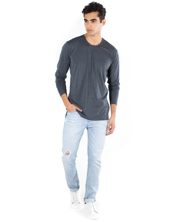 The ESNTLS Grey Staggered Long Sleeve