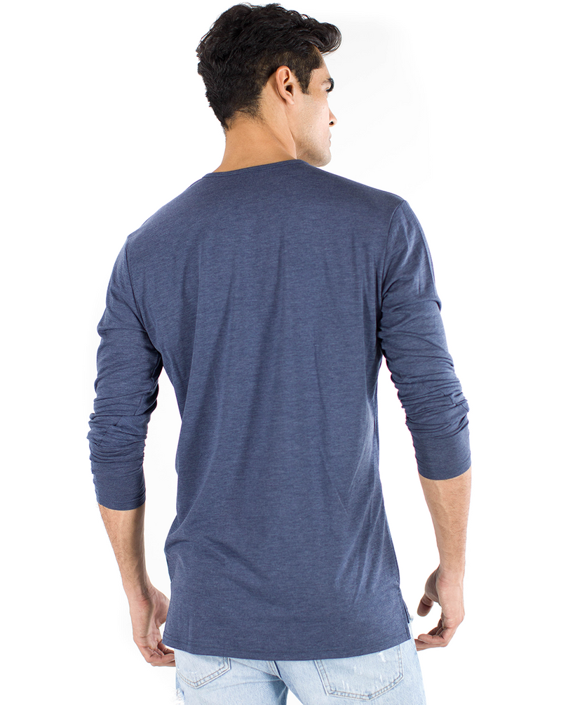 The ESNTLS Navy Staggered Long Sleeve