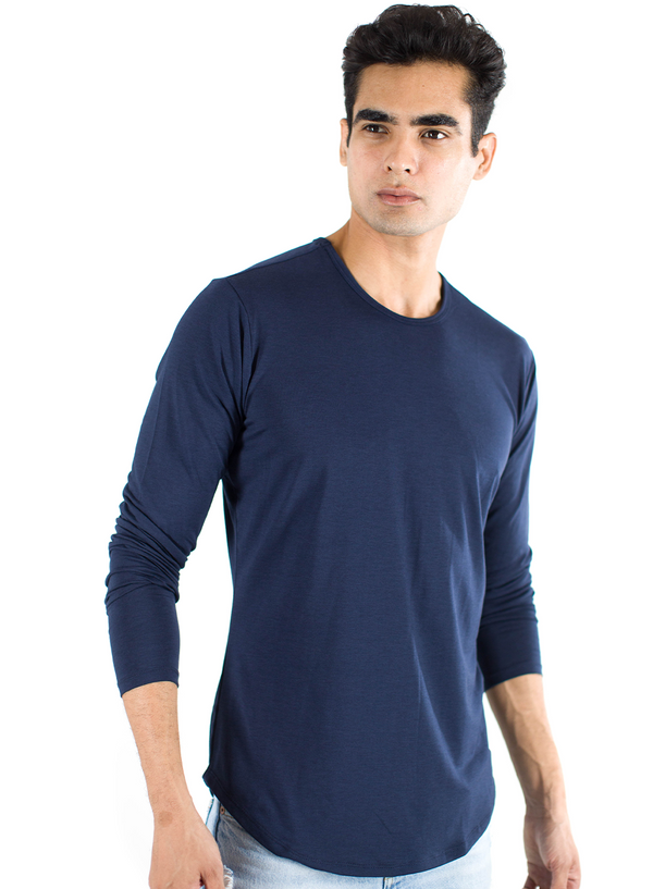 The ESNTLS Navy Scoop Long Sleeve