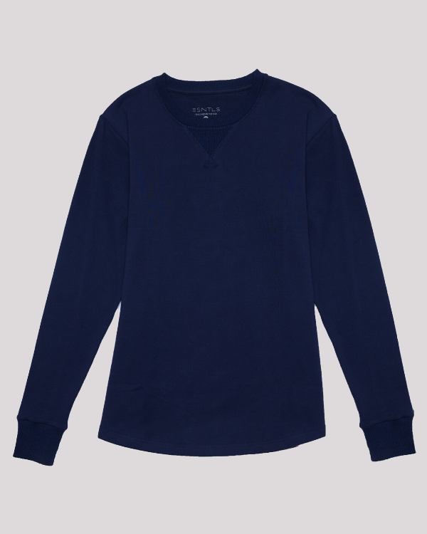 The ESNTLS Navy Crew Sweater