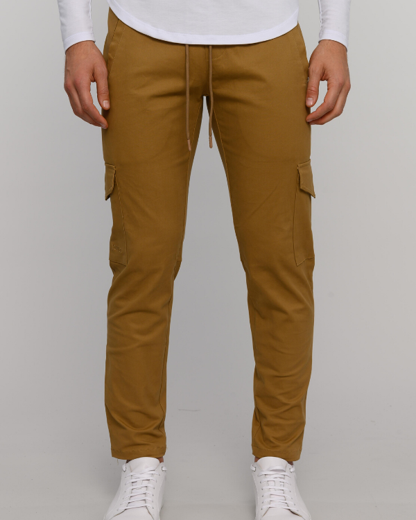 The ESNTLS Tan (Dust) Cargo Pants