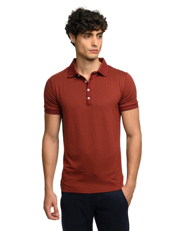 The ESNTL Burgundy Polo