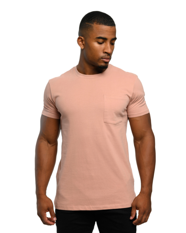 The ESNTL Salmon Fade Pocket Tee