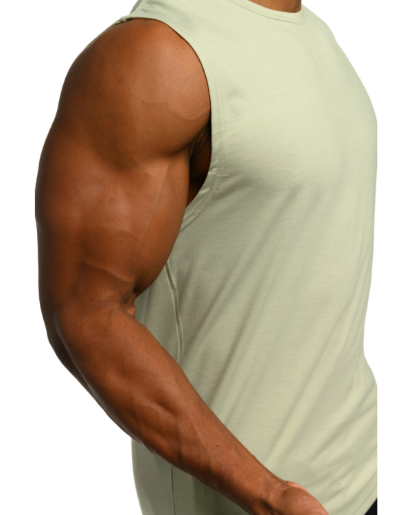 The ESNTL Sage Green Muscle Tee
