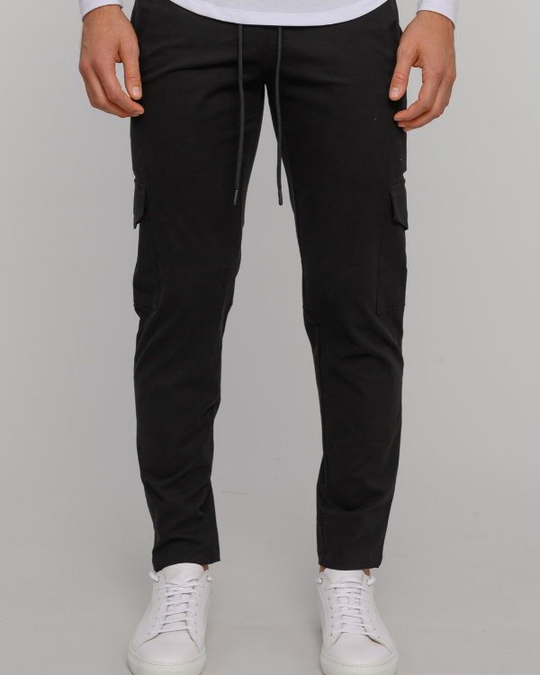 The ESNTLS Black (Coal) Cargo Pants
