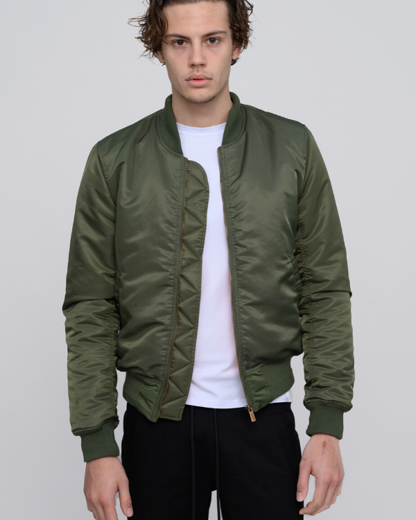 The ESNTLS Olive Bomber Jacket