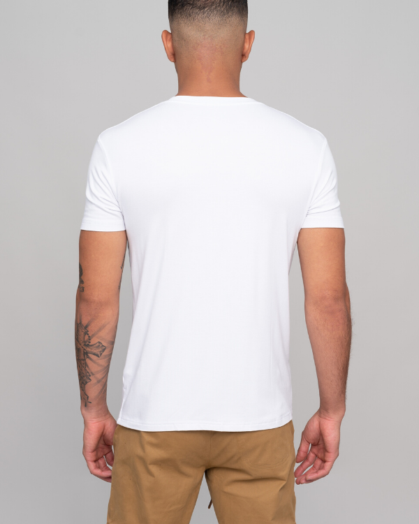 The ESNTL White V-Neck Tee