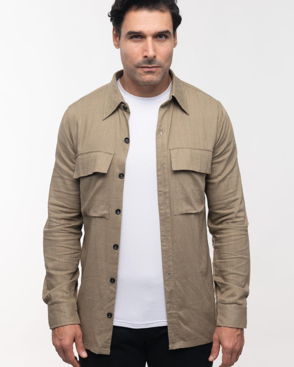 The ESNTL Sand Overshirt