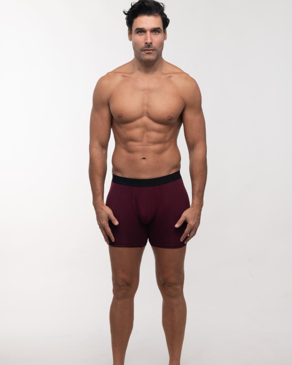 The ESNTL Burgundy Boxer Brief