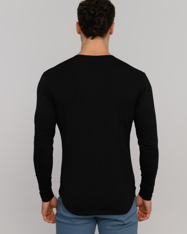 The ESNTLS Black Tencel Long Sleeve