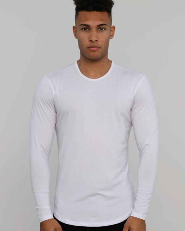 The ESNTLS White Tencel Long Sleeve
