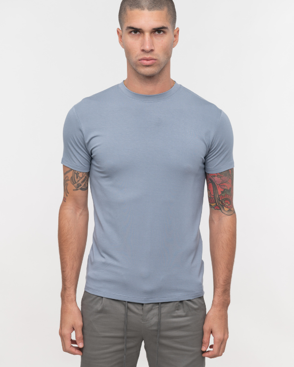 Bamboo Washed Blue Tee