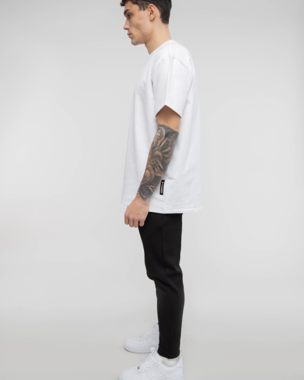 White Drop Shoulder Tee