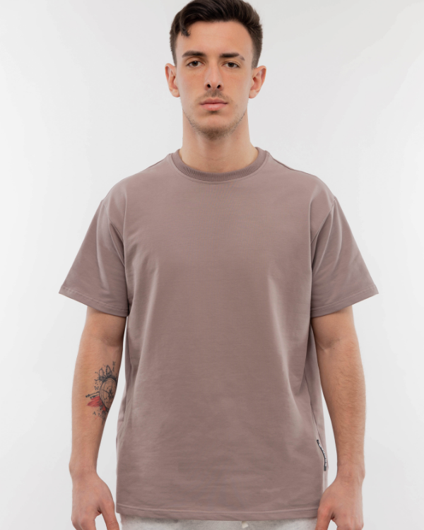 Muave Drop Shoulder Tee