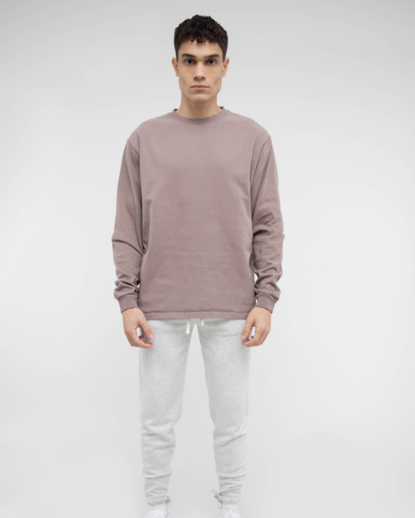 Mauve Oversized Long Sleeve Tee