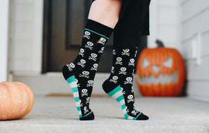 Skull and Crossbones Crew Socks