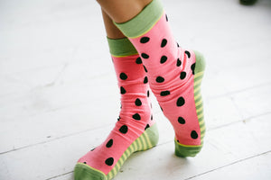 Woven Pear - Watermelon Babies Socks