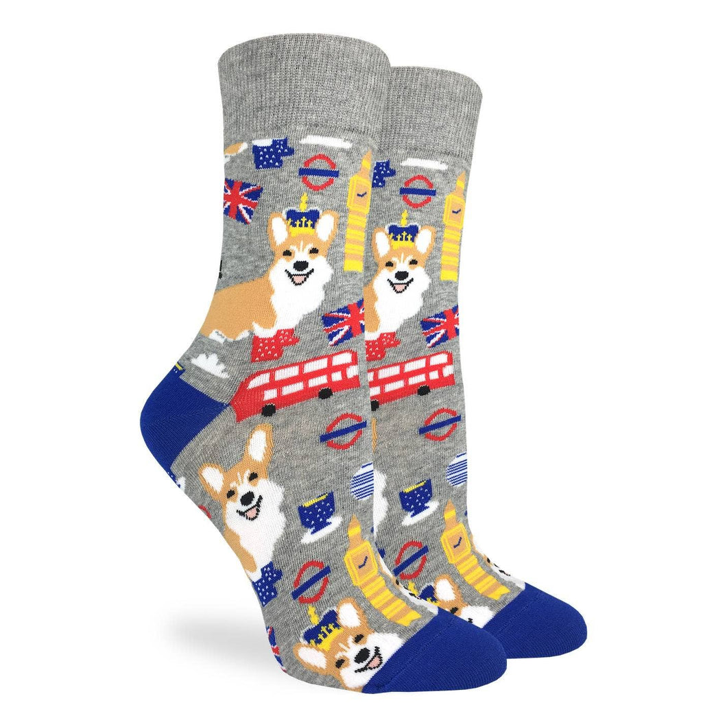 Corgi's in London Women's Crew Socks