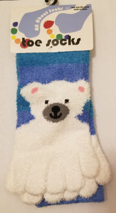 Polar Bear Toe Socks