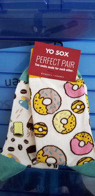 YoSox Women's Perfect Pair Donut & Coffee