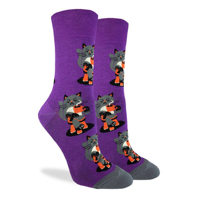 Morning Coffee Cat Women's Crew Socks