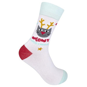 Funatic Socks - Meowy Christmas
