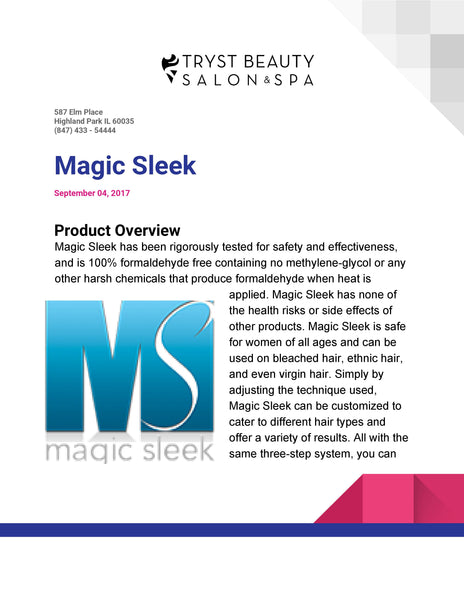 Service Magic Sleek Straightening System Buy now book later.