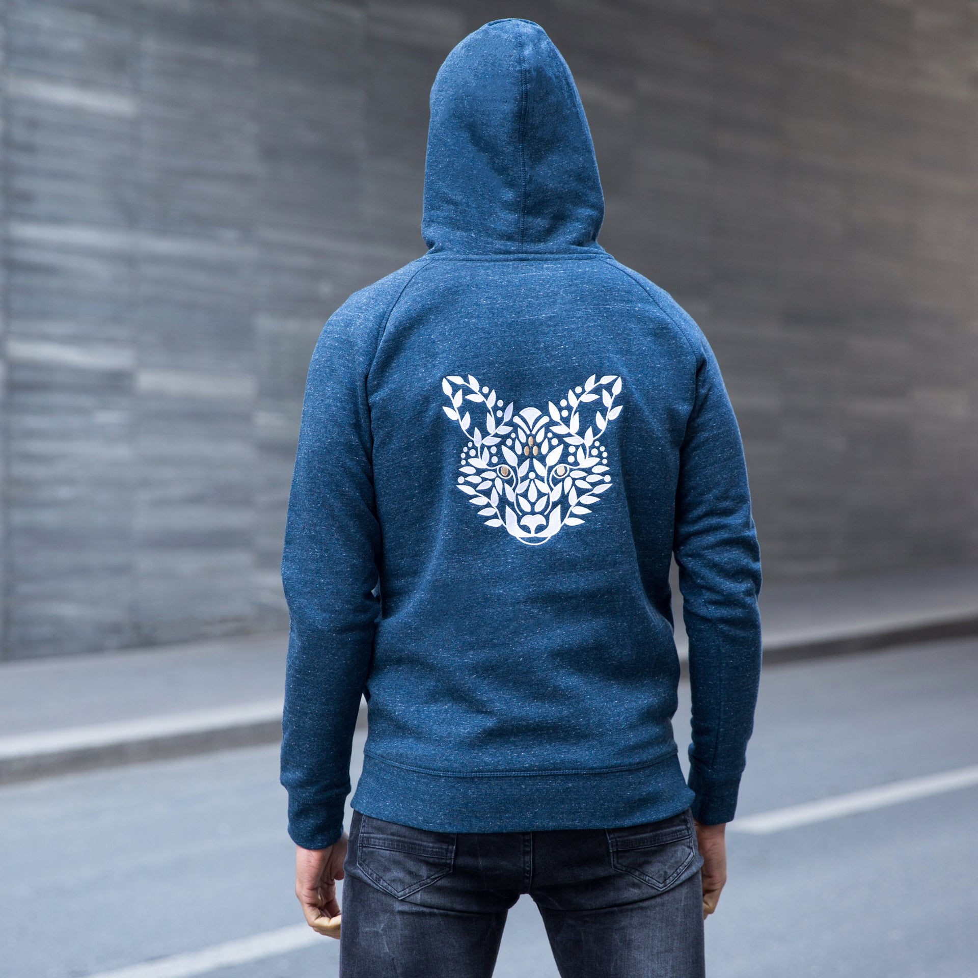 Unisex Organic Cotton Embroidered Sweatshirt FOX