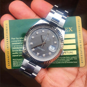 Rolex Datejust II Rhodium