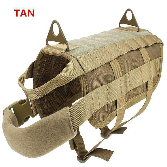 Tactical Canine Training Vest Nylon Adjustable Patrol Harness Service Dog Vest Ve lcro on Sides for ID Patch 11 Colors Available