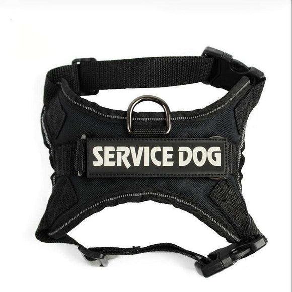 Reflective Big Dog Police Harness Nylon Medium Canine Training Vest With Handle Breathable Mesh Harness Pet Chest Strap&Leash