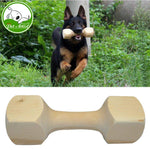 Wood Dog Training Bite Toys Dumbbell for Fetch and Behavior Retriever Training Suitable for All Breeds