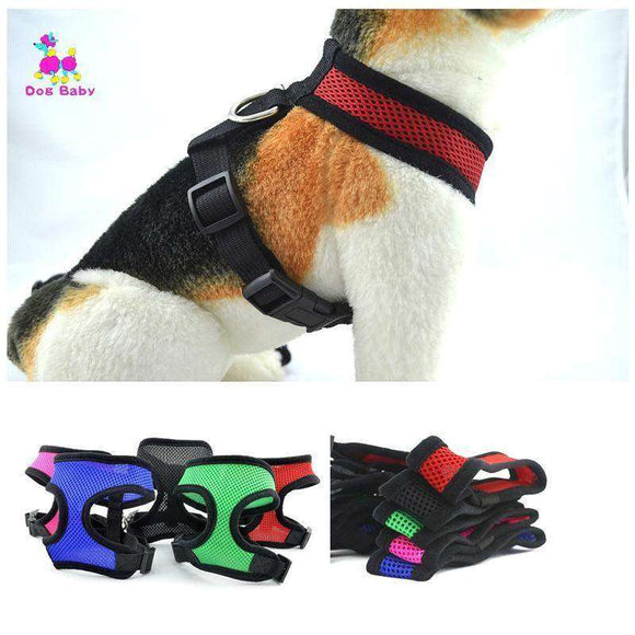 1PC Soft breathable dog harness for Yokie Chihuahua cat pet vest harnesses nylon chest collar harness chest strap leash
