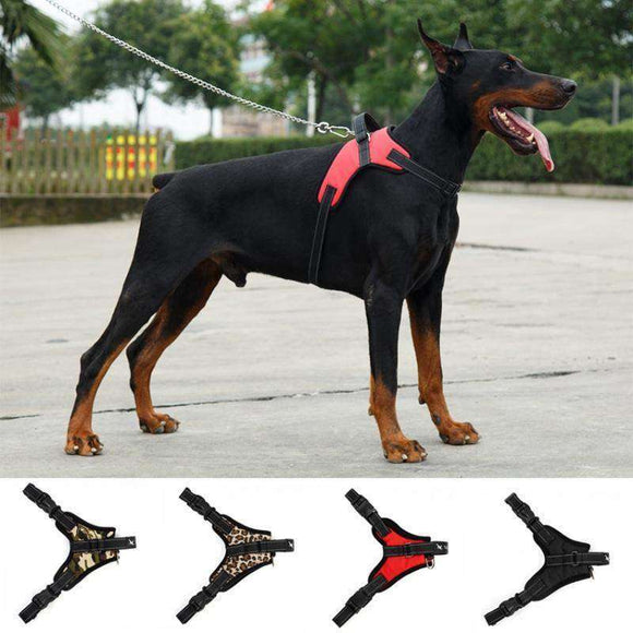 Onlinebuyepets Big Dog Soft Adjustable Harness Pet Large Dog Go Out Harness Vest Collar Hands Strap for Dogs
