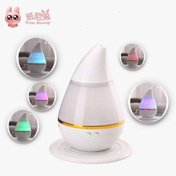 Small Mini USB Humidifier, Oversized Mist, Altering 7-Color Light Instantly,Keep 10-20 Square Meters Air Humidity, for HomeOffice ,Diffuse Water & Essential Oils
