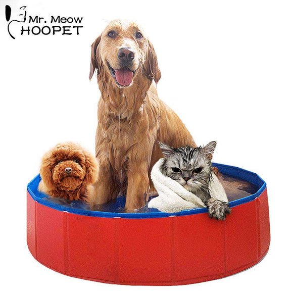 Hoopet Folding Dog Cat Pool PVC Bathing Tub Bathtub Large Dogs Bath Pool Collapsible Pets Pool Cats Kitten Washer