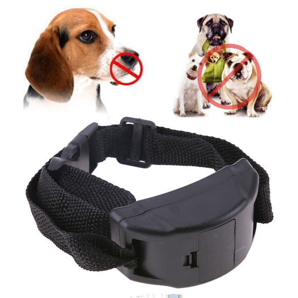 Vibration Shock Electronic Collar Anti Barking Collar for Dogs Pet Dog Training Collar Pet Trainer Control Leather Adjustable