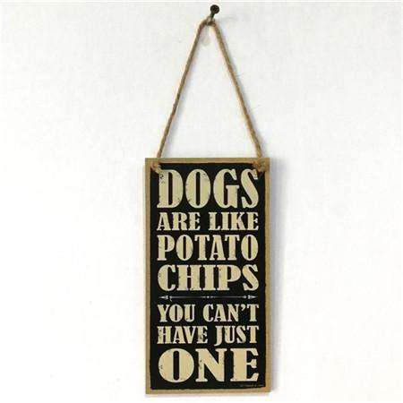 10*20CM Wooden Door Sign Board Retro Hanging DOGS WELCOME/Busy at Work
