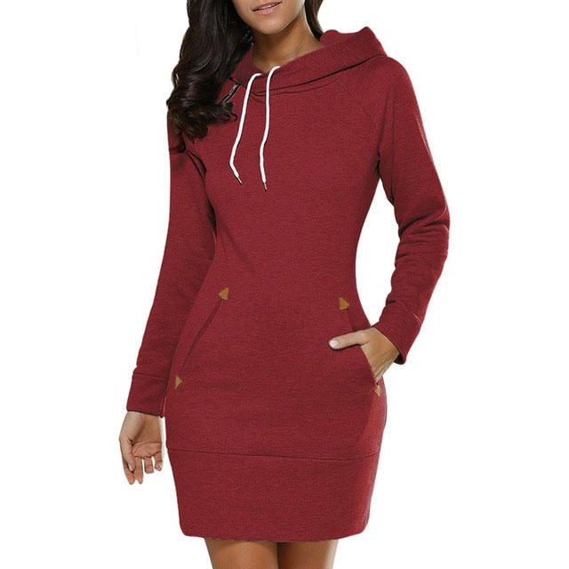 Hooded Sweater Dress - Raen Wear