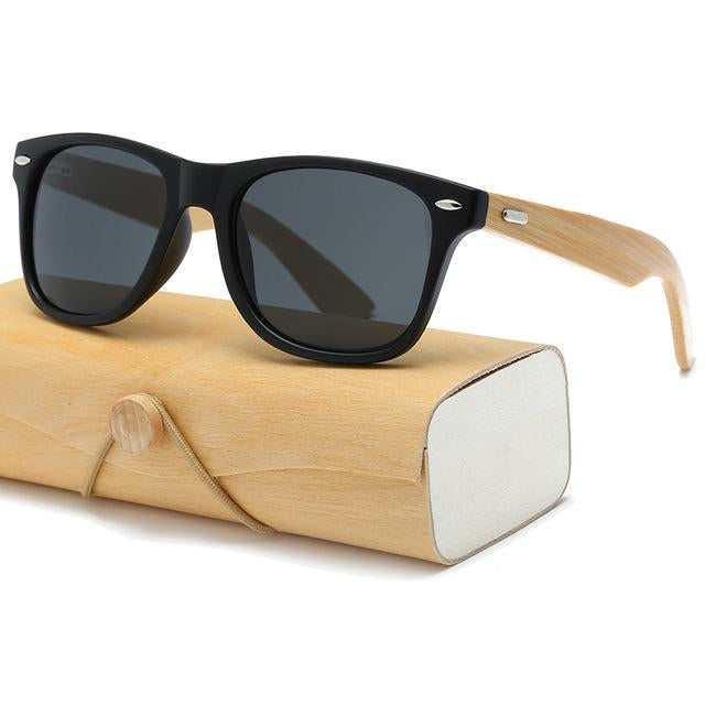 Wooden Mirror Sunglasses With Case - Raen Wear