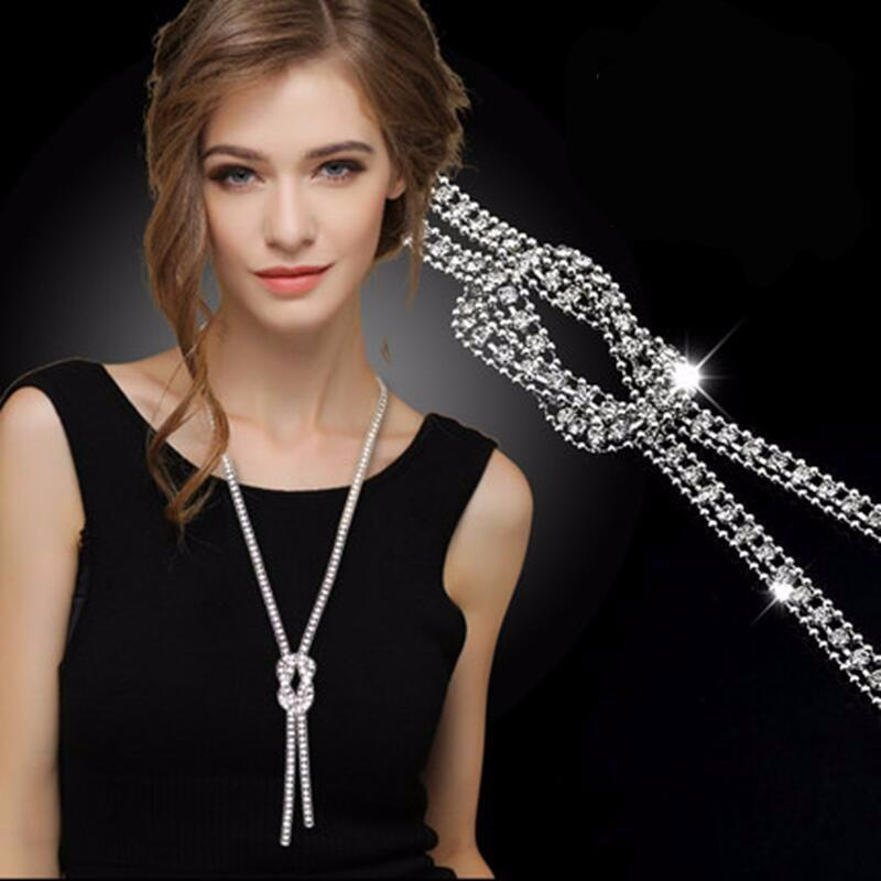 Long Bow Knot Chain Necklace - Raen Wear