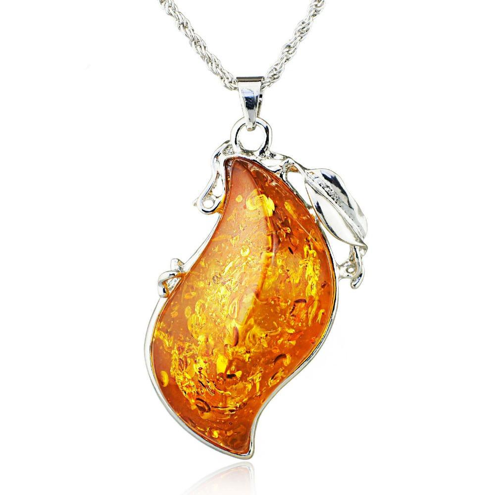 Simulated Honey Pendant Necklace - Raen Wear