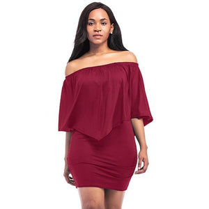 Off The Shoulder Casual Dress - Raen Wear