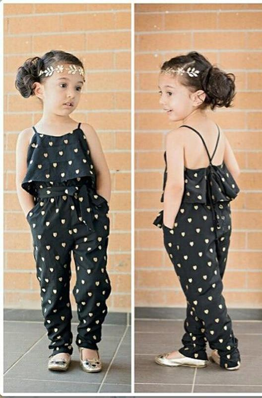 Girls Sleeveless Polka Dot Jumpsuit - Raen Wear