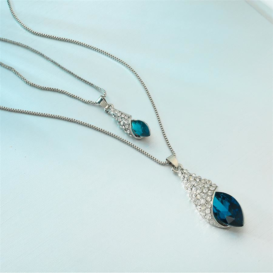 Blue Crystal Pendant Necklace - Raen Wear