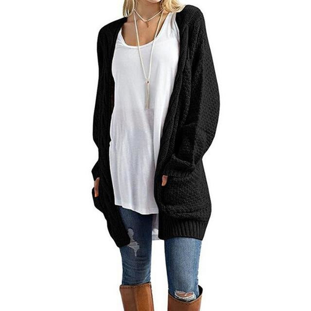 Cozy Long Cardigan With Pockets - Raen Wear