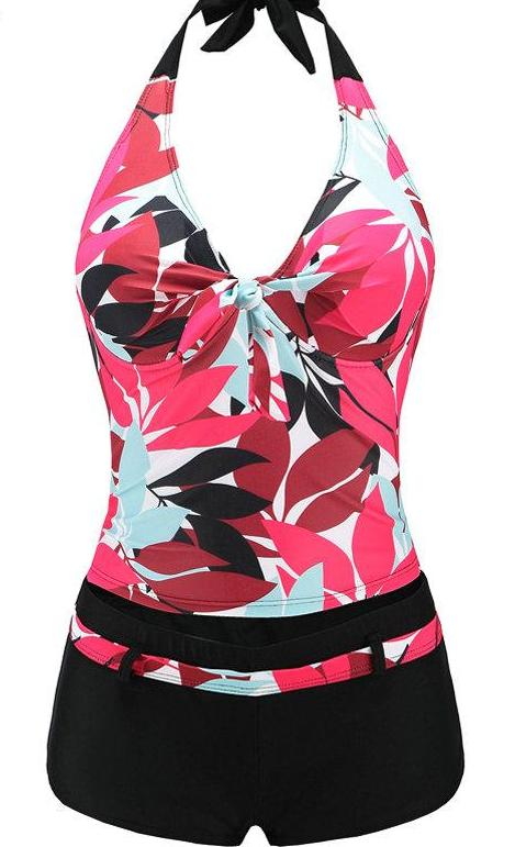 Two Piece Push Up Halter Swimsuit - Raen Wear