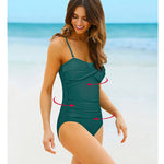One Piece Vintage Swimsuit With Ruching - Raen Wear